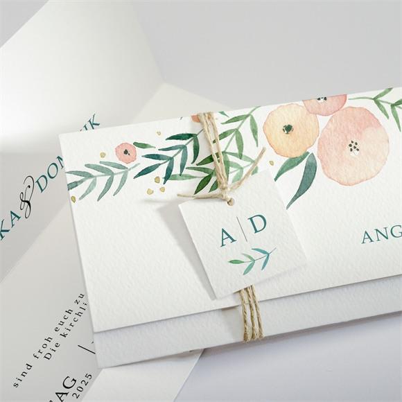 Einladungskarte Hochzeit Wilde Rose réf.N94102