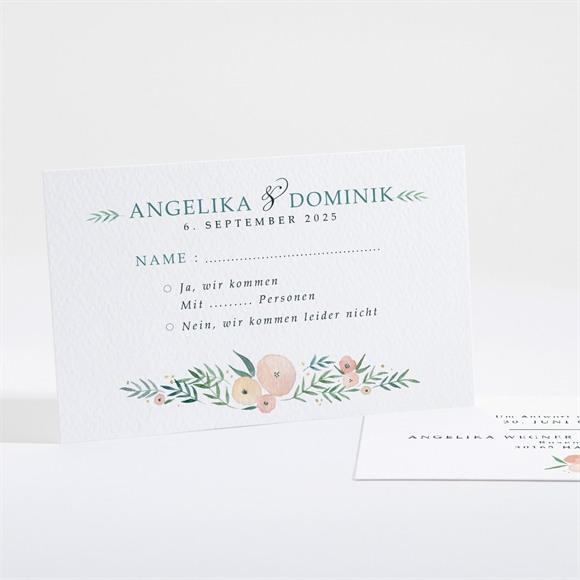 Antwortkarte Hochzeit Wilde Rose réf.N16124
