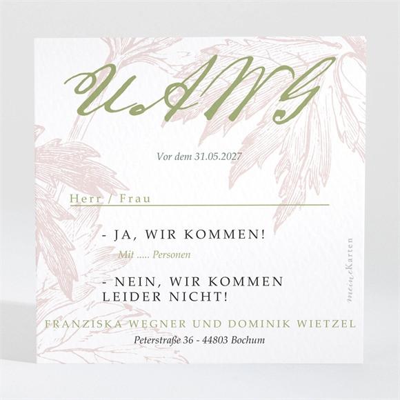 Antwortkarte Hochzeit Englischer Garten réf.N3001461