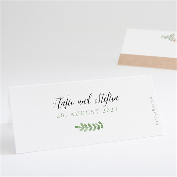 Tischkarte Hochzeit Blumenwiese réf.N440677