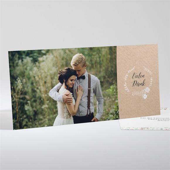Danksagungskarte Hochzeit Blumenwiese réf.N13177