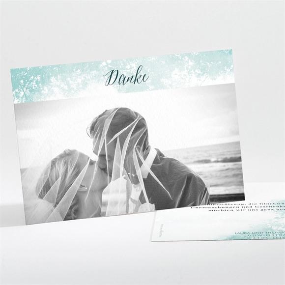Danksagungskarte Hochzeit Wald Aquarell réf.N111224