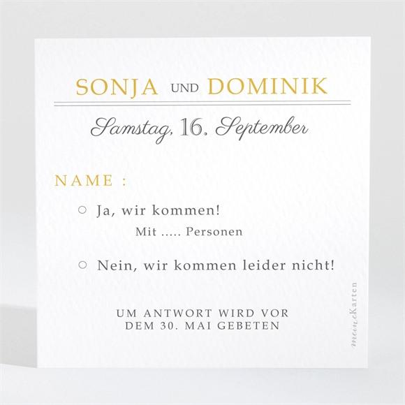 Antwortkarte Hochzeit Der goldene Tag réf.N3001476