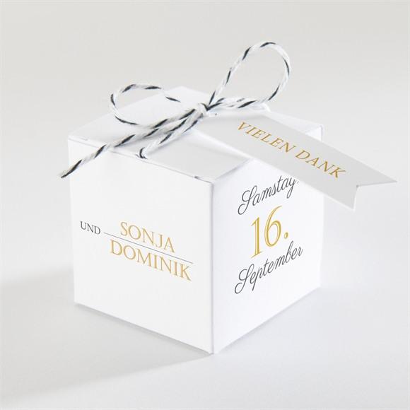 Zuckermandel Schachtel Hochzeit Der goldene Tag réf.N340143