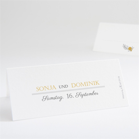 Tischkarte Hochzeit Der goldene Tag réf.N440680
