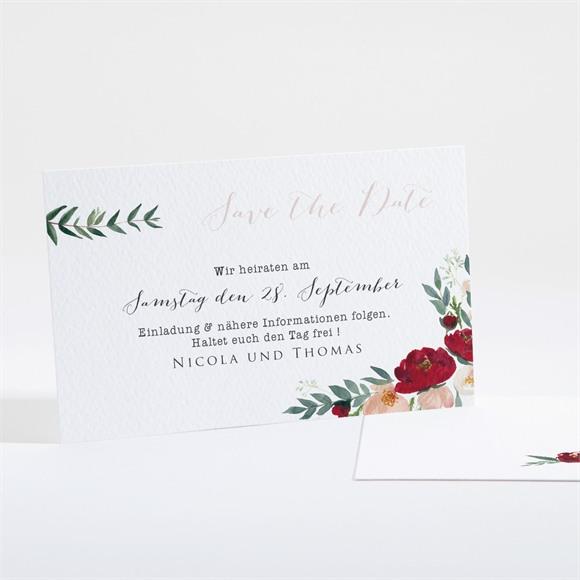 Save the Date Hochzeit Mohnblumen réf.N16129