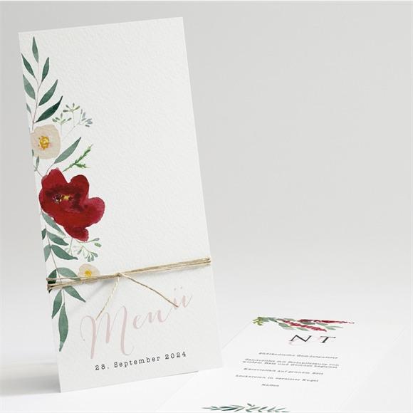 Menü Hochzeit Mohnblumen réf.N22157