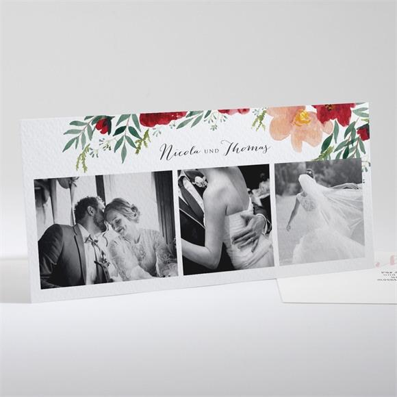 Danksagungskarte Hochzeit Mohnblumen réf.N13179