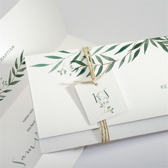 Einladungskarte Hochzeit Olivenzweig réf.N94106