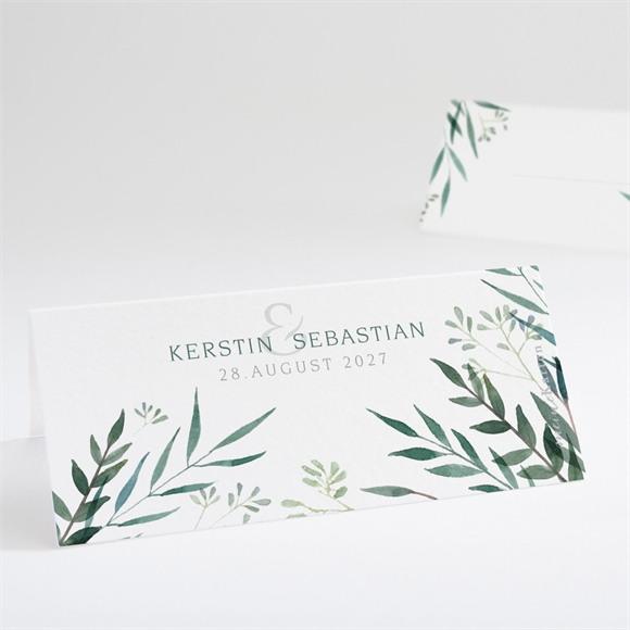 Tischkarte Hochzeit Olivenzweig réf.N440683