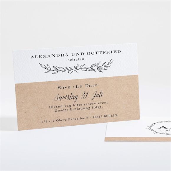 Save the Date Hochzeit Schick mit Schleife réf.N16109