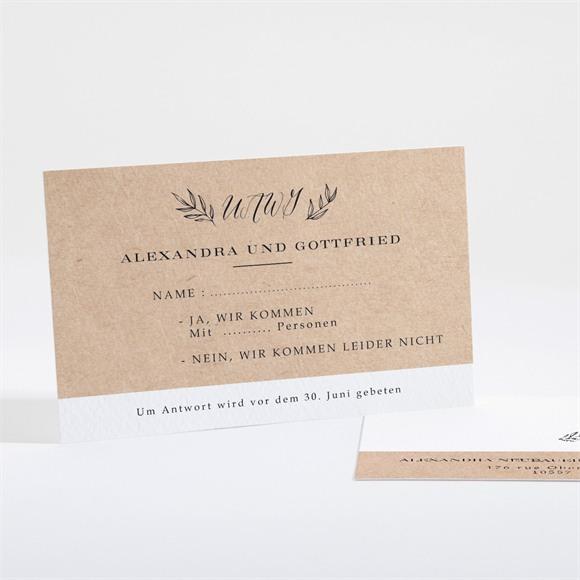 Antwortkarte Hochzeit Chic mit Schleife réf.N16110