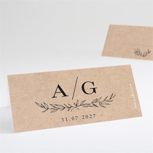 Tischkarte Hochzeit Chic mit Schleife réf.N440684