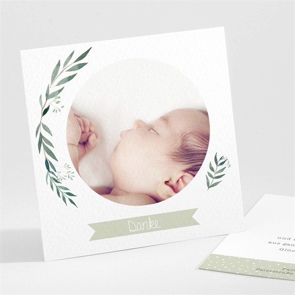 Danksagungskarte Geburt Ländlich réf.N30168