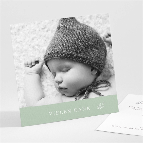 Danksagungskarte Geburt Häschen hüpf réf.N30170