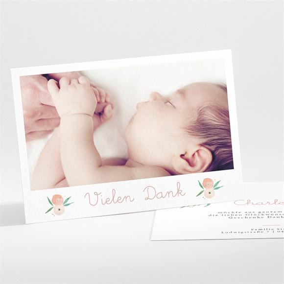 Danksagungskarte Geburt Glückshäuschen réf.N111229