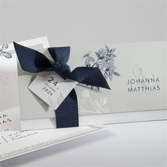 Einladungskarte Hochzeit Blühender Zweig réf.N94111