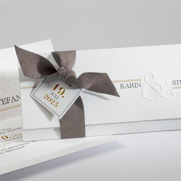 Einladungskarte Hochzeit Eng verbunden réf.N94112