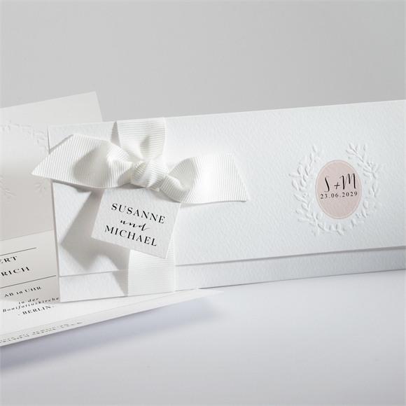 Einladungskarte Hochzeit Reine Eleganz réf.N94113