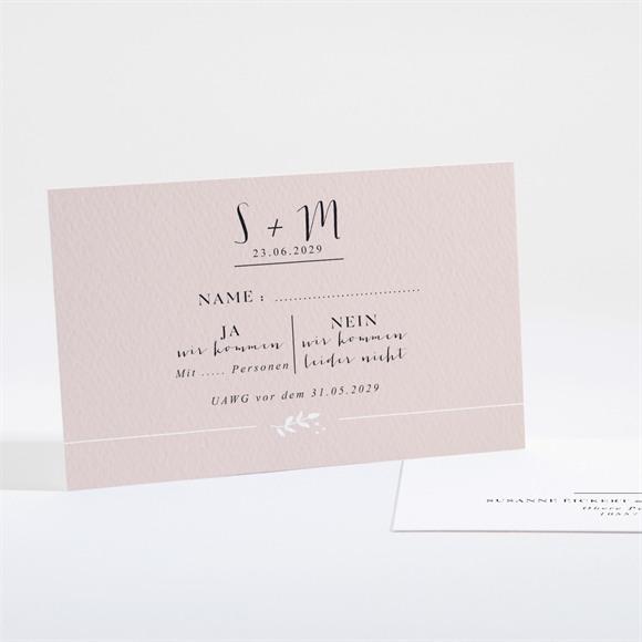 Antwortkarte Hochzeit Reine Eleganz réf.N16102