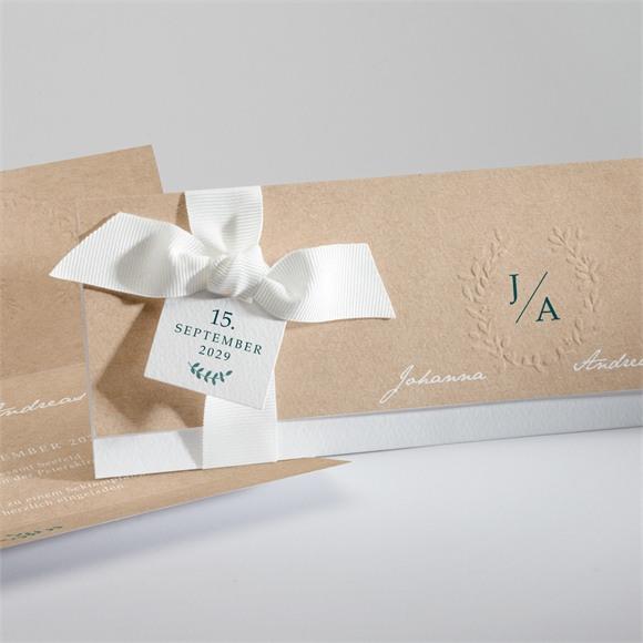 Einladungskarte Hochzeit Wintergrün réf.N94114