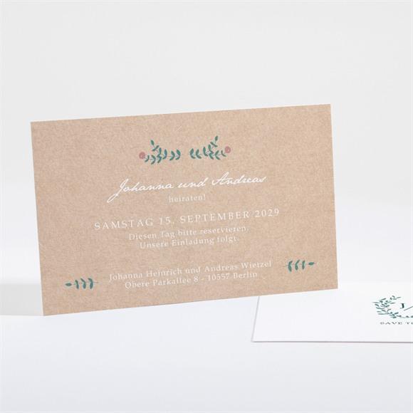 Save the Date Hochzeit Wintergrün réf.N16103