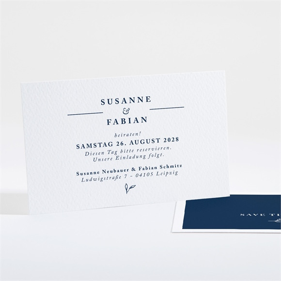 Save the Date Hochzeit Chic in Blau réf.N16119