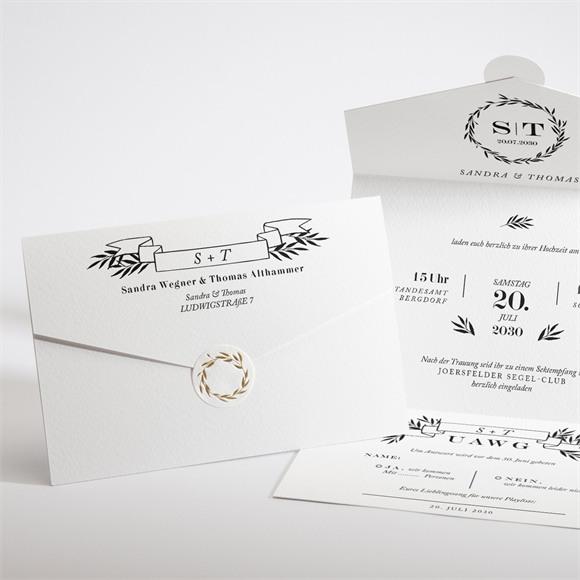Einladungskarte Hochzeit Retro Chic réf.N97104