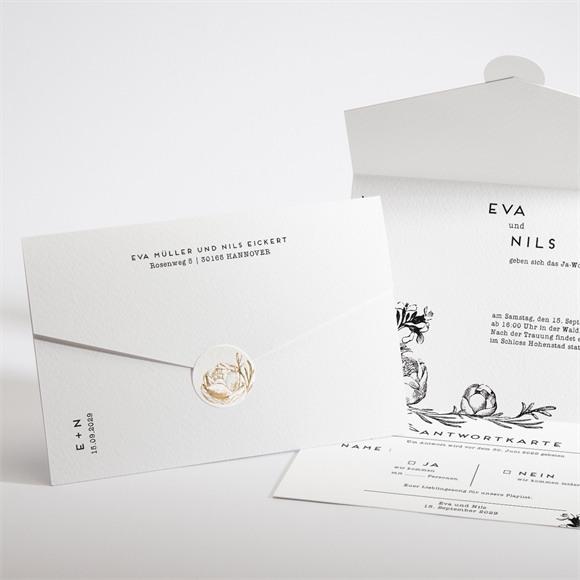 Einladungskarte Hochzeit Kamelie réf.N97105