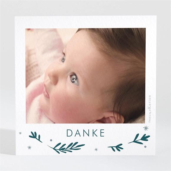 Danksagungskarte Geburt Grüner Zweig réf.N3001502