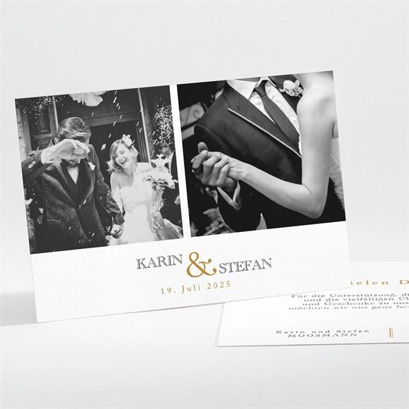 Danksagungskarte Hochzeit Eng verbunden réf.N111233