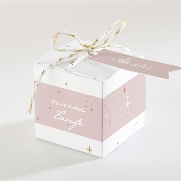 Zuckermandel Schachtel (Taufe) Rosa Licht réf.N340151