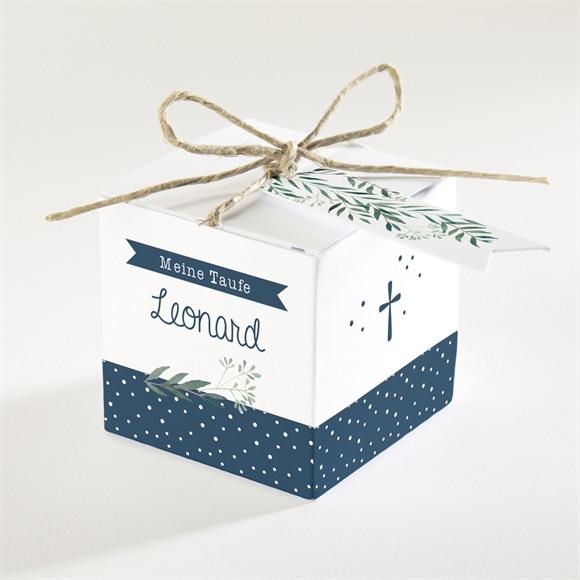 Zuckermandel Schachtel (Taufe) Pünktchen blau réf.N340159
