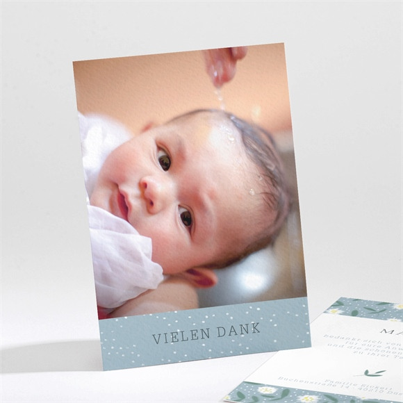 Danksagungskarte Taufe Gänseblümchen réf.N211184