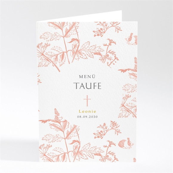 Menü Taufe Vintage Natur réf.N401815