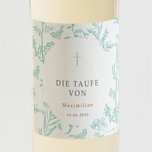 Flaschenetikett Taufe Vintage Vogel réf.N3001526