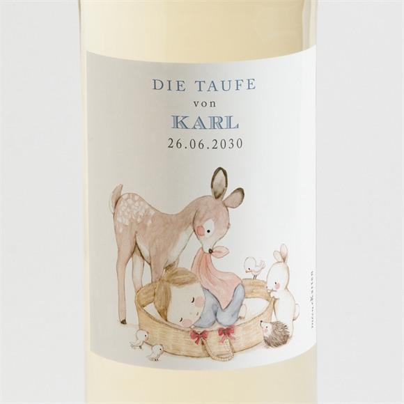Flaschenetikett Taufe Zarte Illustration réf.N3001532