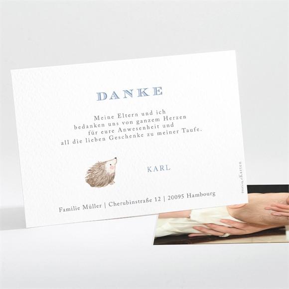 Danksagungskarte Taufe Zarte Illustration réf.N111245