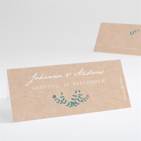 Tischkarte Hochzeit Wintergrün réf.N440713