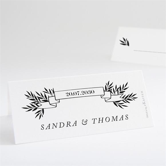 Tischkarte Hochzeit Retro Chic réf.N440717