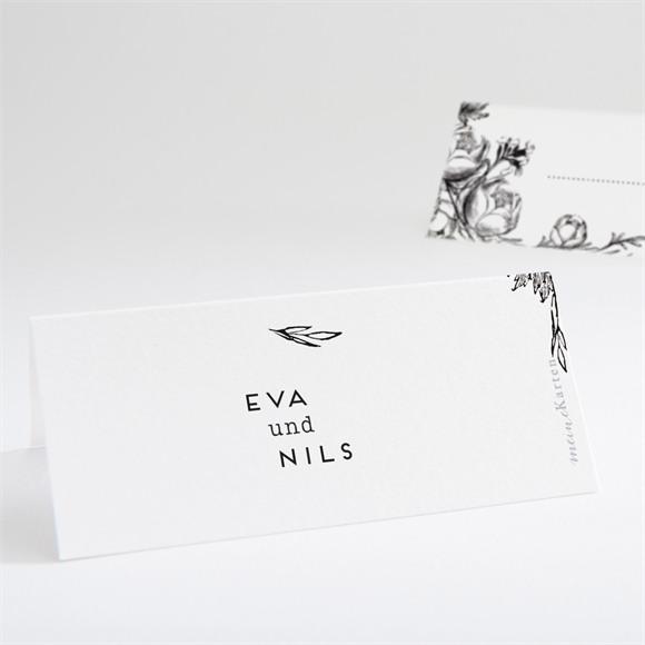 Tischkarte Hochzeit Kamelie réf.N440718