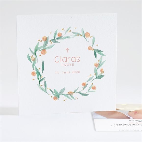 Einladungskarte Taufe Wildblumen réf.N35104