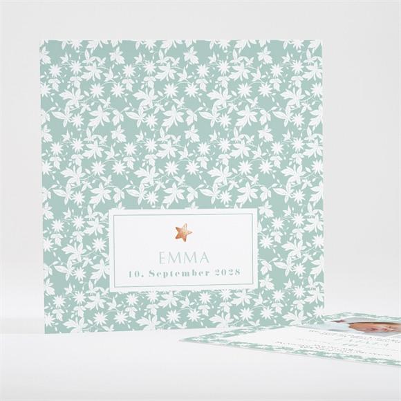 Geburtskarte Blätter und Sterne réf.N35105