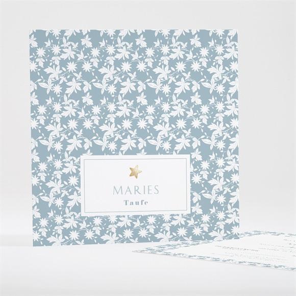 Einladungskarte Taufe Florale Gravur réf.N35106