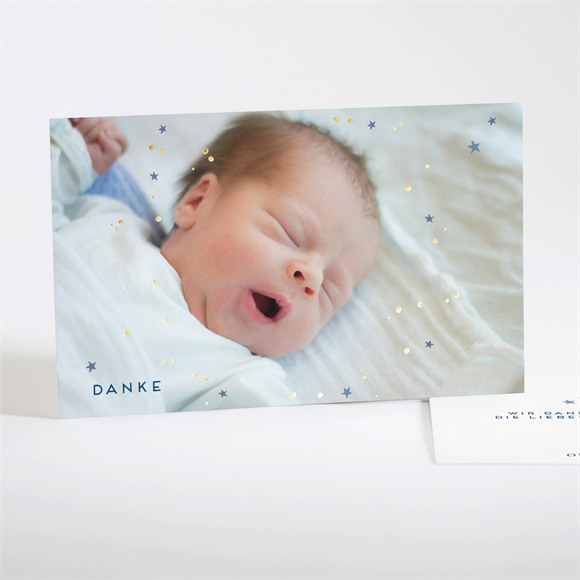 Danksagungskarte Geburt Glitzernde Freude réf.N17108