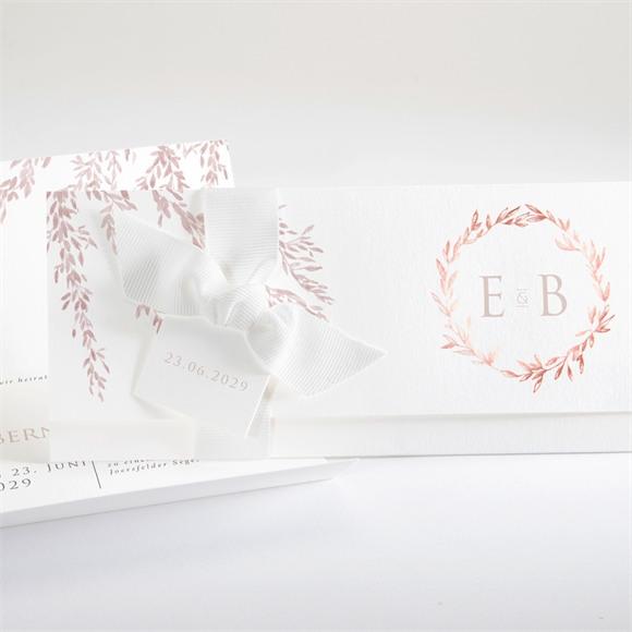 Einladungskarte Hochzeit Goldene Weide réf.N94120