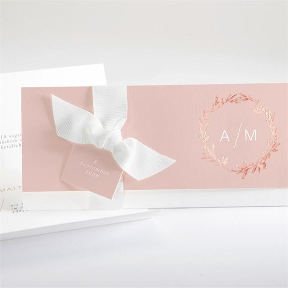 Einladungskarte Hochzeit Zarte Mitteilung réf.N94124