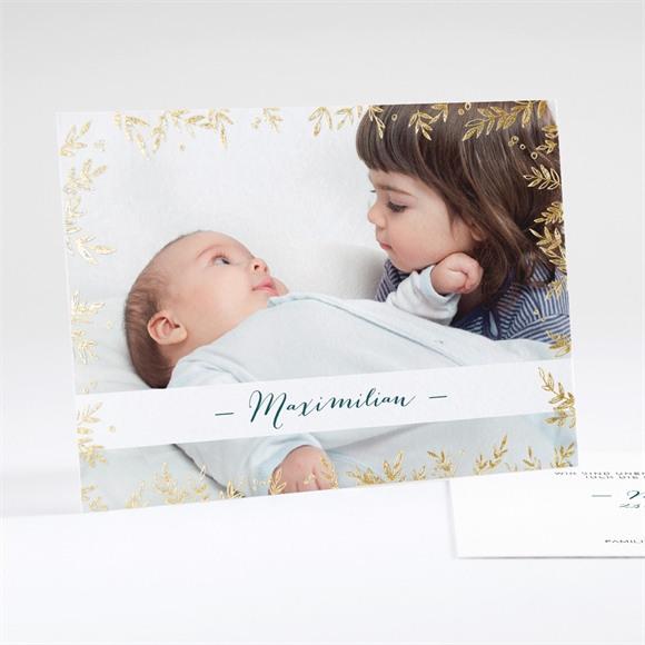 Geburtskarte Goldblatt réf.N18109