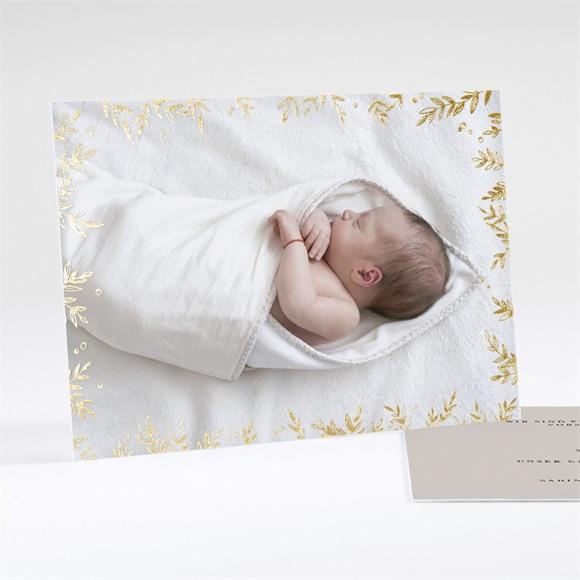 Geburtskarte Goldrahmen réf.N18113