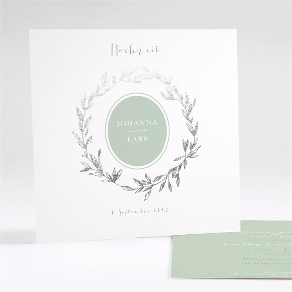 Einladungskarte Hochzeit Medaillon réf.N35112
